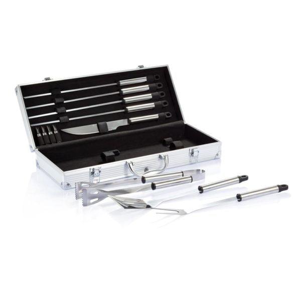 Barbacoa Set de 12 piezas en caja de aluminio