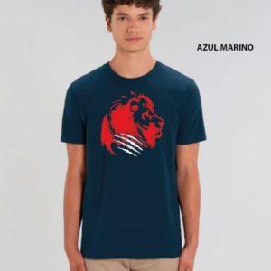 Camiseta Chico León Azul-Rojo