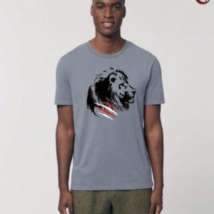 Camiseta Chico León Gris-Negro
