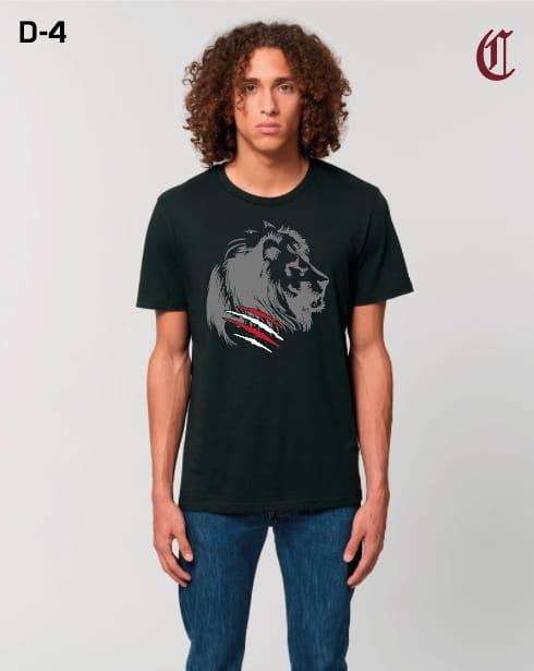 Camiseta Chico León Negro - Gris
