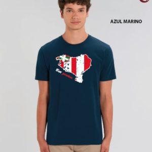 Camiseta Chico Mapa Azul Marino