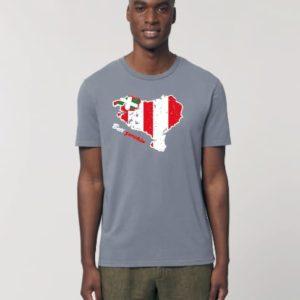 Camiseta Chico Mapa Gris