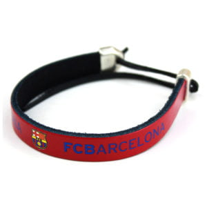 Pulsera de piel FC Barcelona Granate