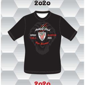 Camiseta Final Copa del Rey en la Cartuja 2020 Negra