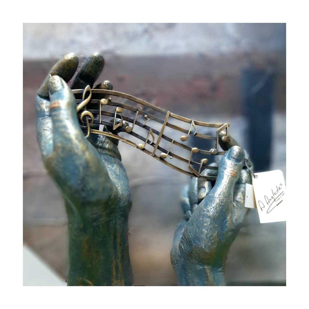 escultura alegoria a la musica